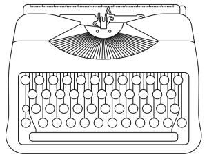 image of manual typewriter